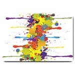 Crazy Multicolored Double Running Splashes Large Doormat  30 x20 Door Mat - 1
