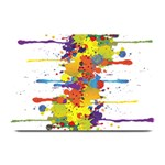Crazy Multicolored Double Running Splashes Plate Mats 18 x12 Plate Mat - 1