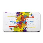 Crazy Multicolored Double Running Splashes Medium Bar Mats 16 x8.5 Bar Mat - 1