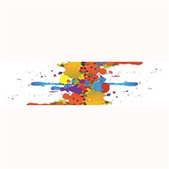 Crazy Multicolored Double Running Splashes Large Bar Mats