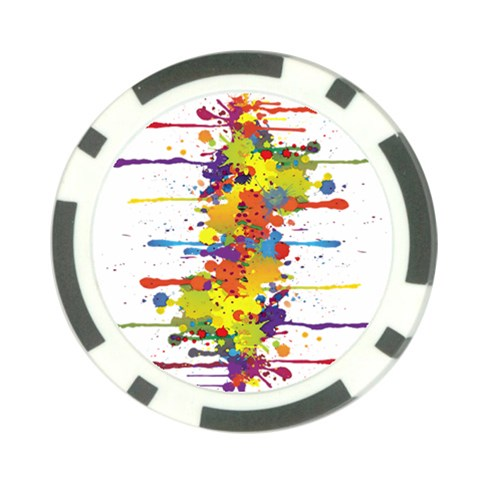 Crazy Multicolored Double Running Splashes Poker Chip Card Guards
