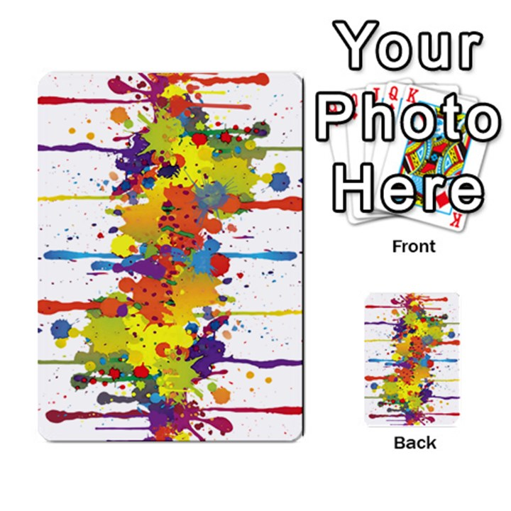 Crazy Multicolored Double Running Splashes Multi-purpose Cards (Rectangle)