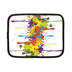 Crazy Multicolored Double Running Splashes Netbook Case (small)
