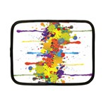 Crazy Multicolored Double Running Splashes Netbook Case (Small)  Front