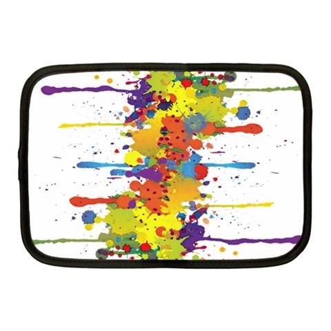 Crazy Multicolored Double Running Splashes Netbook Case (Medium)