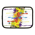 Crazy Multicolored Double Running Splashes Netbook Case (Medium)  Front