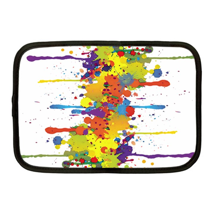 Crazy Multicolored Double Running Splashes Netbook Case (Medium)