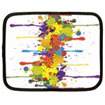 Crazy Multicolored Double Running Splashes Netbook Case (Large) Front