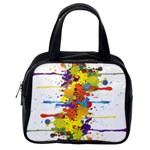 Crazy Multicolored Double Running Splashes Classic Handbags (One Side) Front