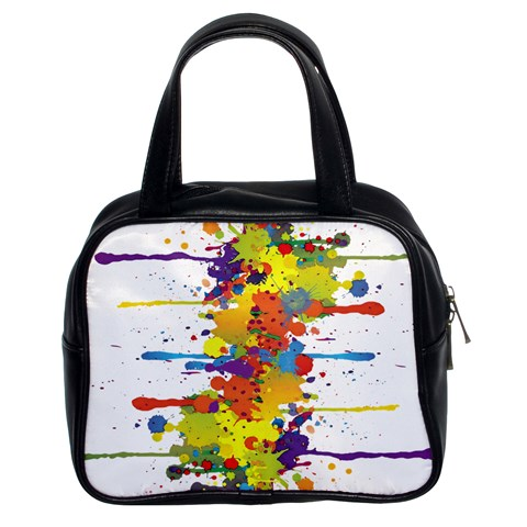 Crazy Multicolored Double Running Splashes Classic Handbags (2 Sides)