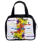 Crazy Multicolored Double Running Splashes Classic Handbags (2 Sides) Front