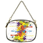 Crazy Multicolored Double Running Splashes Chain Purses (One Side)  Front