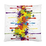 Crazy Multicolored Double Running Splashes Standard Cushion Case (Two Sides) Back