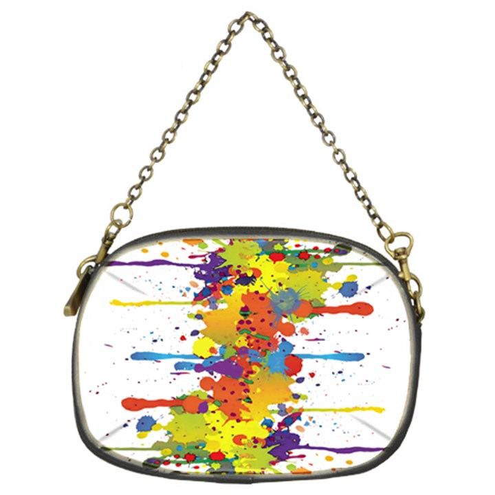 Crazy Multicolored Double Running Splashes Chain Purses (Two Sides)