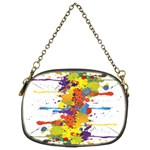 Crazy Multicolored Double Running Splashes Chain Purses (Two Sides)  Back