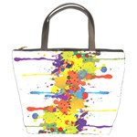 Crazy Multicolored Double Running Splashes Bucket Bags Front