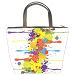 Crazy Multicolored Double Running Splashes Bucket Bags Back