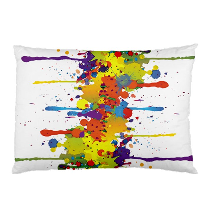 Crazy Multicolored Double Running Splashes Pillow Case