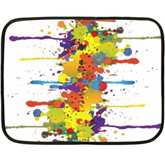 Crazy Multicolored Double Running Splashes Fleece Blanket (Mini)