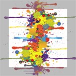 Crazy Multicolored Double Running Splashes Mini Canvas 6  x 6  6  x 6  x 0.875  Stretched Canvas