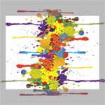 Crazy Multicolored Double Running Splashes Canvas 14  x 11  14  x 11  x 0.875  Stretched Canvas