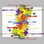 Crazy Multicolored Double Running Splashes Canvas 16  x 12  16  x 12  x 0.875  Stretched Canvas