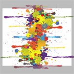 Crazy Multicolored Double Running Splashes Canvas 24  x 20  24  x 20  x 0.875  Stretched Canvas