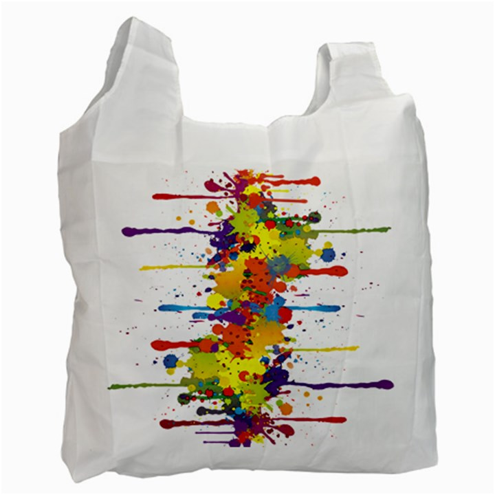 Crazy Multicolored Double Running Splashes Recycle Bag (Two Side)