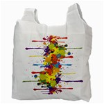 Crazy Multicolored Double Running Splashes Recycle Bag (Two Side)  Back