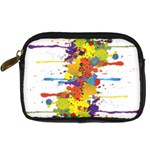 Crazy Multicolored Double Running Splashes Digital Camera Cases Front