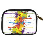 Crazy Multicolored Double Running Splashes Digital Camera Cases Back
