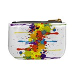 Crazy Multicolored Double Running Splashes Mini Coin Purses Back