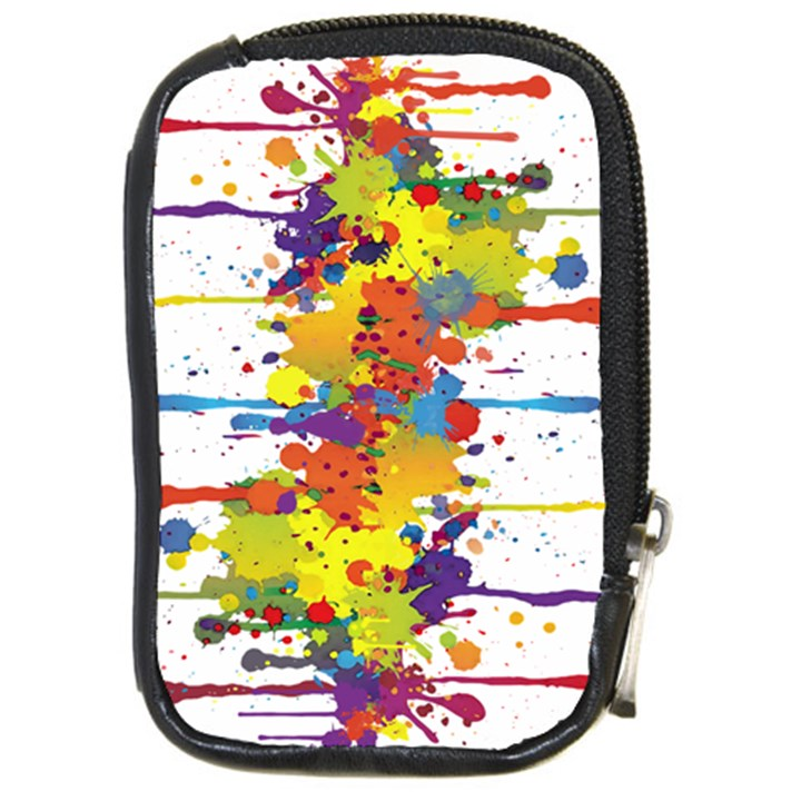 Crazy Multicolored Double Running Splashes Compact Camera Cases