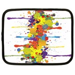 Crazy Multicolored Double Running Splashes Netbook Case (XXL)  Front