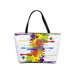 Crazy Multicolored Double Running Splashes Shoulder Handbags