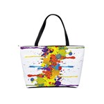 Crazy Multicolored Double Running Splashes Shoulder Handbags Back