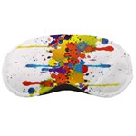 Crazy Multicolored Double Running Splashes Sleeping Masks Front