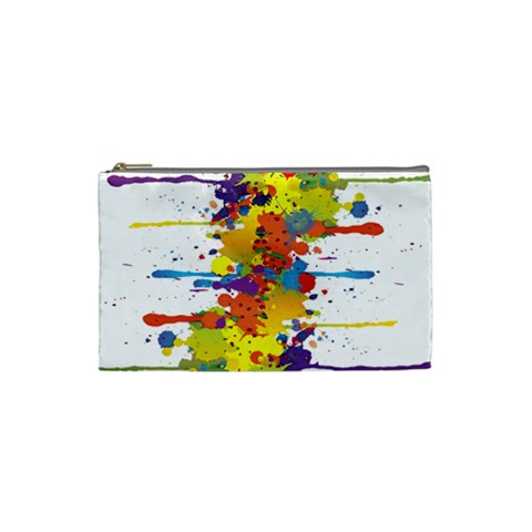 Crazy Multicolored Double Running Splashes Cosmetic Bag (Small)