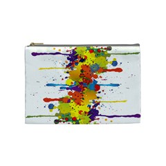 Crazy Multicolored Double Running Splashes Cosmetic Bag (medium)