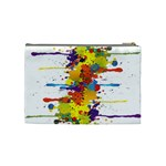 Crazy Multicolored Double Running Splashes Cosmetic Bag (Medium)  Back