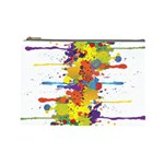 Crazy Multicolored Double Running Splashes Cosmetic Bag (Large)  Front