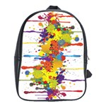 Crazy Multicolored Double Running Splashes School Bags(Large)  Front