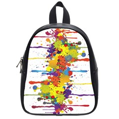 Crazy Multicolored Double Running Splashes School Bags (small)