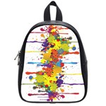 Crazy Multicolored Double Running Splashes School Bags (Small)  Front