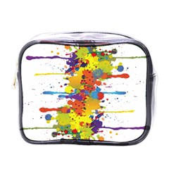 Crazy Multicolored Double Running Splashes Mini Toiletries Bags