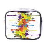 Crazy Multicolored Double Running Splashes Mini Toiletries Bags Front
