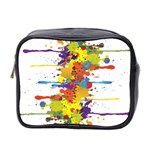 Crazy Multicolored Double Running Splashes Mini Toiletries Bag 2-Side Front
