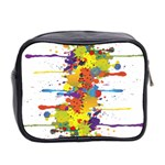Crazy Multicolored Double Running Splashes Mini Toiletries Bag 2-Side Back