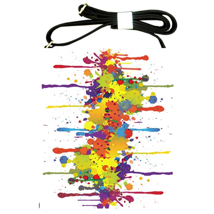 Crazy Multicolored Double Running Splashes Shoulder Sling Bags
