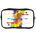 Crazy Multicolored Double Running Splashes Toiletries Bags Front